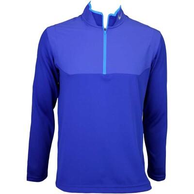 Nike Dri Fit Half Zip Golf Jumper Deep Royal AW15