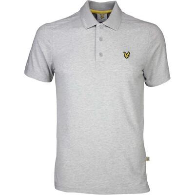 Lyle Scott Golf Shirt 8211 Hawick Tech Tour Grey Marl SS16