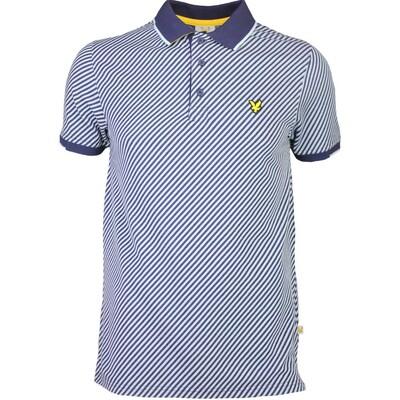 Lyle Scott Golf Shirt 8211 Gala Diagonal Stripe Navy SS16