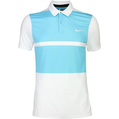Nike Golf Shirt MM Fly Framing Block White Blue SS16