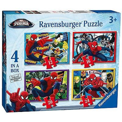Ravensburger Ultimate Spider Man 4 In A Box Jigsaw Puzzles