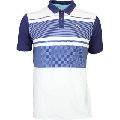 Puma Golf Shirt Pattern Block Peacoat SS16