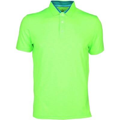 Puma Golf Shirt Tailored Tipped Green Gecko SS16
