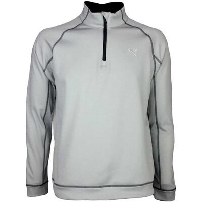 Puma Golf Pullover Fleece Popover Light Grey SS16