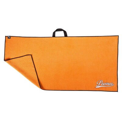 Puma Golf Towel Players Microfibre Vibrant Orange AW16