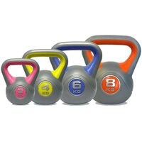 Image of DKN 2, 4, 6 and 8kg Vinyl Kettlebell Weight Set