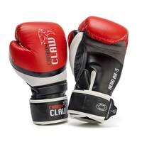 Carbon Claw Aero AX-5 Leather Sparring Gloves - Red/Black, 12oz