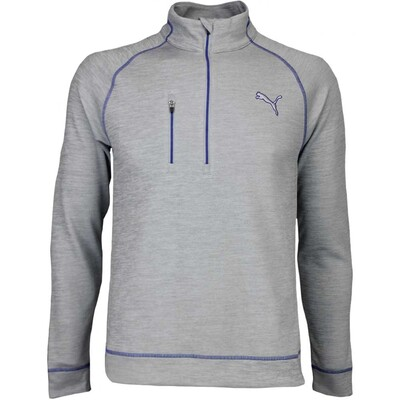 Puma Golf Pullover PWRWARM Elevated Zip Quarry Heather AW16