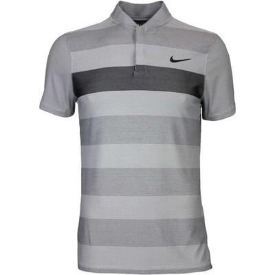 Nike Golf Shirt MM Fly BLADE Stripe Alpha Wolf Grey AW16