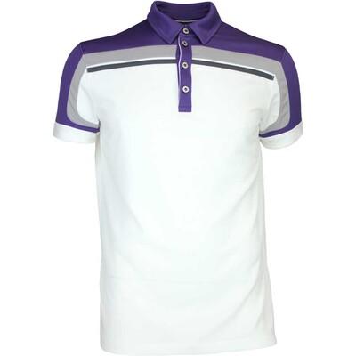 Galvin Green Golf Shirt MACOY Ventil8 White Plum AW16