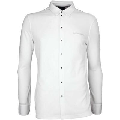 Galvin Green Golf Shirt MORRIS Long Sleeve White AW17