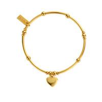 Mini Noodle Ball Heart Bracelet - Gold