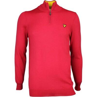 Lyle Scott Golf Jumper Tolmount Merino Zip Bright Red AW16