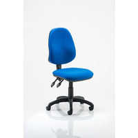 Image of Eclipse 2 Lever Task Operator Chair Blue fabric