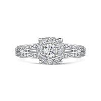 Vintage Shoulder Diamond Ring 0.54cts