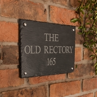 Rustic Slate House Sign - 3 line 30.5 x 20cm