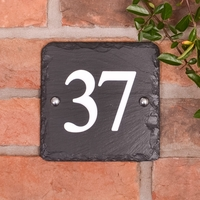 Square Rustic Slate House Number 15 x 15cm