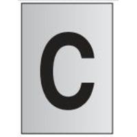 Metal Effect PVC Letter C