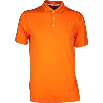 Puma Golf Shirt Essential Pounce Vibrant Orange AW17