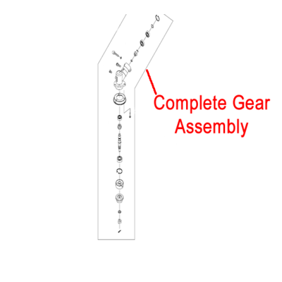 Mitox Mitox Gear Case Assembly Multi-Tool Brushcutter MICG415.3