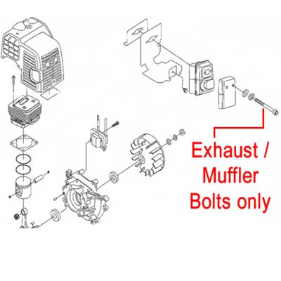 Mitox Mitox Exhaust Muffler Bolts (Pair) MIGB/T70.1 M5X55