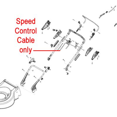 AL-KO AL-KO Lawnmower Bowden Speed Control Cable 453750