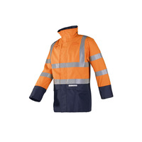 Elliston 7219 FR AST High Vis Orange Rain Coat