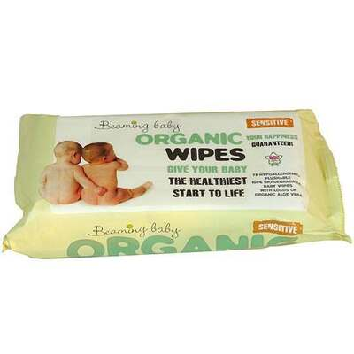 Beaming Baby Organic Baby Wipes - 72 Wipes