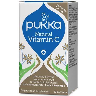 Pukka Herbs Organic Natural Vitamin C 60 Capsules