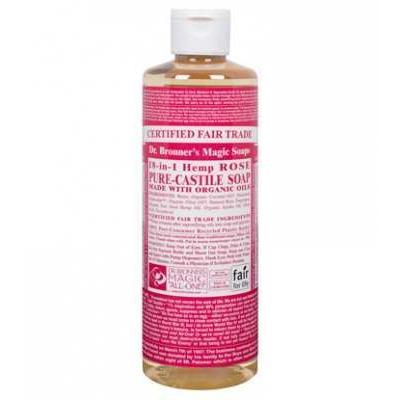 Dr Bronner's Rose Castile Liquid Soap 473ml