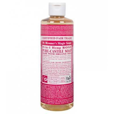 Dr Bronner's Rose Castile Liquid Soap 473ml