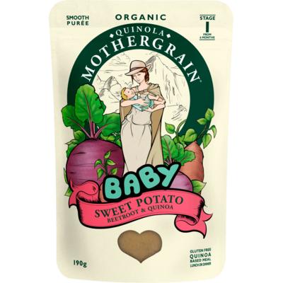 Quinola Mothergrain Organic Sweet Potato Baby Food 190g