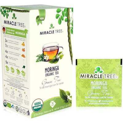Miracle Tree Moringa Organic Green Tea 25 Bags