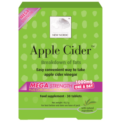 New Nordic Apple Cider Mega Strength 30 Tablets