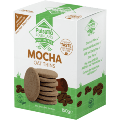 Pulsetta Gluten Free Mocha Oat Thins 150g