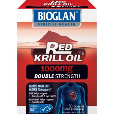 Bioglan Red Krill Oil Double Strength 1000mg 30 Capsules