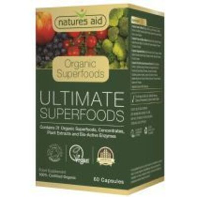 Natures Aid Organic Ultimate Superfood 60 Capsules