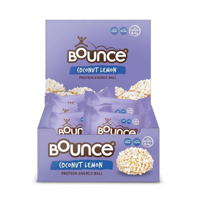 Bounce Coconut & Lemon Energy Protein Ball 40g - Pack of 12