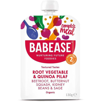 Babease Organic Root Vegetable & Quinoa Pilaf 130g - Stage 2 - Box of 6