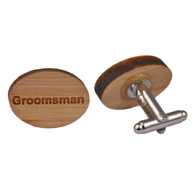 Wooden Cufflinks - Groomsman