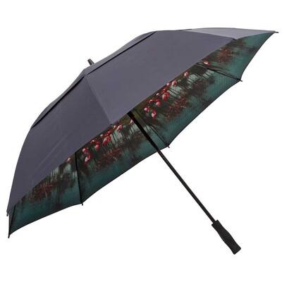 Ted Baker Golf Umbrella Walk Internal Print Navy SS17