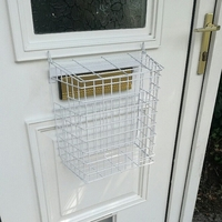White Letter Cage For uPVC Doors (no screws required)