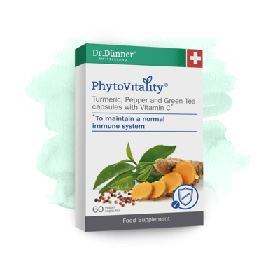Dr Dunner Turmeric, Pepper & Green Tea with Vitamin C 60 Capsules