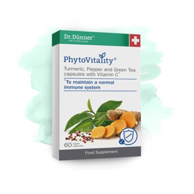 Dr Dunner Turmeric, Pepper & Green Tea with Vitamin C 60 Capsules