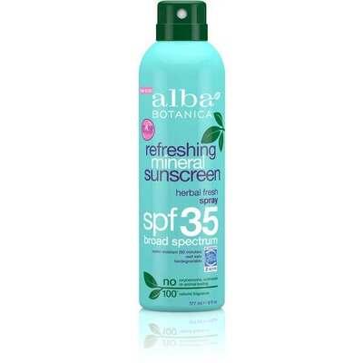Alba Botanica Suncare Refreshing Mineral Spray SPF35 177ml
