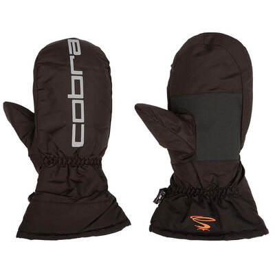 Puma Golf Gloves Cobra Branded Winter Mitts Black AW17