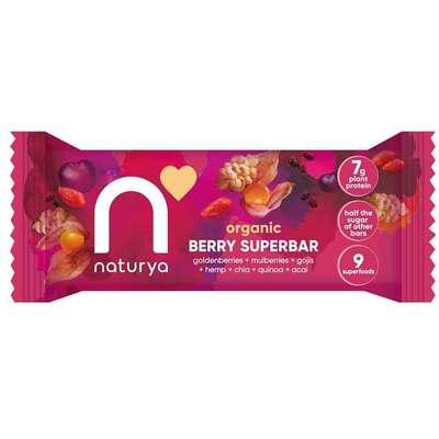 Naturya Organic Berry Superbar 40g - Case of 16