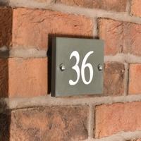 Smoky Green Slate 2 digit number WGSN2