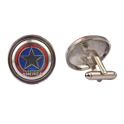 Captain America Colourful Shield Cufflinks