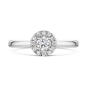 Brilliant Cut Diamond Halo Ring 0.38cts